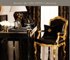 i am in love with every single aspect of the Ralph Lauren One Fifth Avenue Home Collection... sure the black and gold is a weebit dramatic for my everyday taste but nonetheless is TO DIE FOR. the. end.