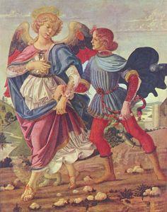 Actuall Pictures of Andrea Del Verrochio   Großbild: Andrea del Verrocchio: Tobias und der Engel