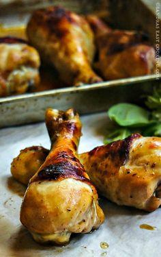 Marinated Baked #Chicken Drumsticks @SECooking   Sandra