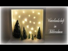 Winterdeko im Rahmen * DIY * Winter Wonderland Winter decoration in the frame * DIY * Winter Wonderl Youtube Home, Winter Diy, Diy Frame, Christmas Eve, Creative, Wonderland, Projects, Outdoor, Decoration