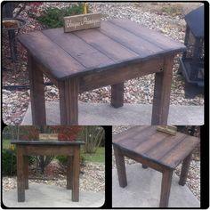Reclaimed Rustic Wood FARM TABLE Primitive by UniquePrimtiques
