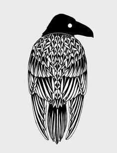 Raven Art Print by Alexandra Boman Crow Art, Bird Art, Raven Spirit Animal, Raven Bird, Raven Tattoo, Crows Ravens, Desenho Tattoo, Native Art, Sculpture Art