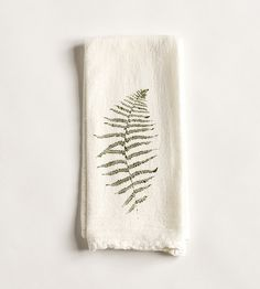Wild Fern Fabric Napkins, Set of 4 by June & December on Scoutmob