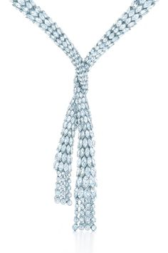 Tiffany Diamond drape necklace-Expert stonesetters transform sleek 1930s glamour into a necklace of more than 140 carats of magnificent diamonds.