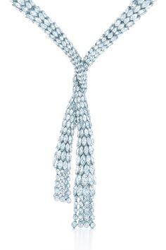 Diamond drape necklace in platinum. Tiffany Blue Book.