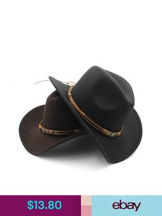 a867badf06c Wool Felt Western Cowboy Hat For Womem Men Wide Brim Cowgirl Tassel Tauren  Ribbo
