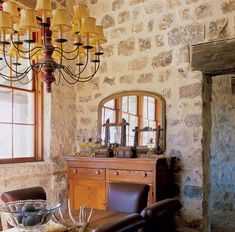 "The 18""-thick limestone walls keep the kitchen insulated from the hot Texas sun.Rustic Kitchen for a Texas Farmhouse - Old-House Online"