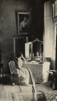 Lady Ottoline Morrell ('Mummy in her bedroom at Amerongen') by Lady Ottoline Morrell