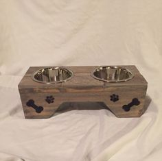 "Dog feeder 6"" tall by HungryHoundsFeeders on Etsy"