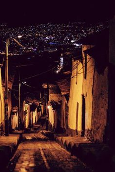 night, street , Athens , Greece .