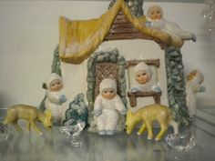 snow baby figurines were created when Admiral Byrd explored the North Pole and he became a new father.