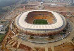 Images Soccer City Stadium in Johannesburg, South Africa Aerial view of the stadium 5525 Soccer City, Soccer Stadium, Soccer World, Football Stadiums, Soccer Fans, Basketball, Rugby, Johannesburg City, World Cup Stadiums
