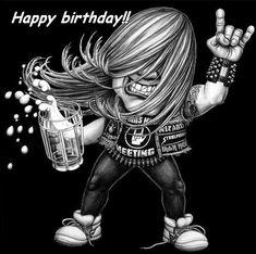 12 Best Happy Birthday Heavy Metal Style Images Birthday Wishes