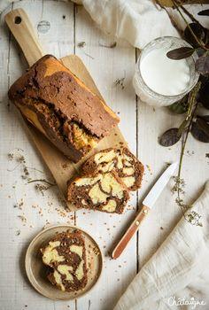 Cake marbré chocolat-praliné