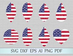 Earrings svg file, American earrings svg, USA earrings cricut, American flag earring cut file, Independence Day svg earring, 4th of July svg