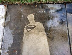 Post with 527 votes and 340340 views. Shared by regoapps. Comics drawn on a sidewalk with a pressure washer Reverse Graffiti, Sidewalk Art, Water Art, Pressure Washing, Painting Services, Best Funny Pictures, Comic Art, Comic Books, Street Art