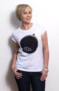 T-Shirt – Graphic Print – black & white