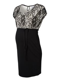 Beautiful lace detail maternity dress from MAMALICIOUS #mamalicious #maternity #dress #party