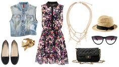 festival look - flower dress
