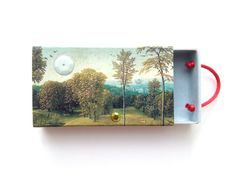 matchbox art  Trevelyan  landscape collage  by MagpieWorkshop, $15.00