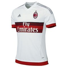 c499d04b66 Adidas AC Milan Away 2015-2016 Replica Soccer Jersey (White Red Grey)