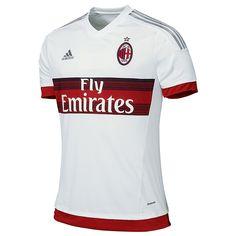 cd227e337e Adidas AC Milan Away 2015-2016 Replica Soccer Jersey (White Red Grey)