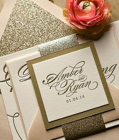 Glam Stationery blush and gold
