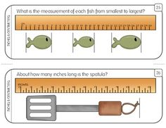 Measurement Task Cards: Inch, 1/2 Inch, & Centimeter (Corresponding…