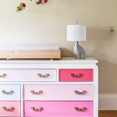 DIY to Try Colorblock Dresser - 15 Genius Ways To Transform An Old and Boring Dresser | GleamItUp