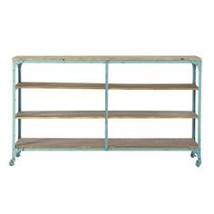 green industrial side tableshelf large brooklyn