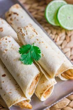 Baked Honey Line Chicken Taquitos