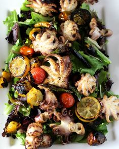 Charred Baby Octopus Salad - 12 Addictive Octopus Recipes That Will Leave You Wanting More