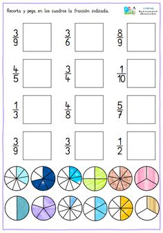 Using Math Games to Enhance Learning Fractions Worksheets, Math Fractions, Preschool Writing, Teaching Math, Classroom Activities, Learning Activities, Waldorf Math, Montessori Math, Third Grade Math
