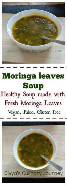 Light Soup made with fresh moringa leaves. This healthy soup is packed with nutrients.