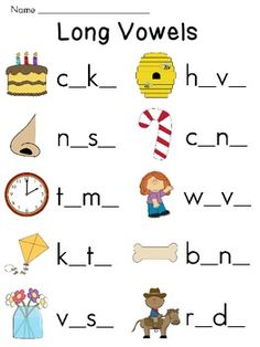 Vowel Sounds Worksheets Pack for Middle Sounds Practice Teaching Phonics, Phonics Worksheets, Phonics Activities, Kindergarten Worksheets, Jolly Phonics, Long Vowel Worksheets, Printable Worksheets, Free Printable, Teaching Resources