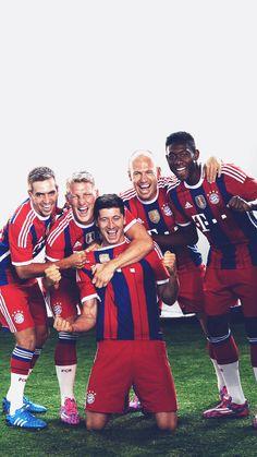Bayern Munchen (Munich) Lahm Schweinsteiger Lewandowski Robben Alaba