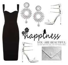 black and silver by aida1412 on Polyvore featuring polyvore, fashion, style, Victoria Beckham, Qupid, Boohoo and clothing