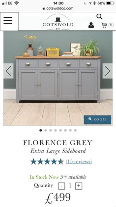 Large Sideboard, Dining Room, Cabinet, Storage, Interior, Furniture, Home Decor, Clothes Stand, Purse Storage