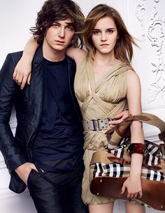 f51ec1caa705 Emma Watson and george craig for the 2010 Burberry Clothing Line Campaign.  Love Fashion