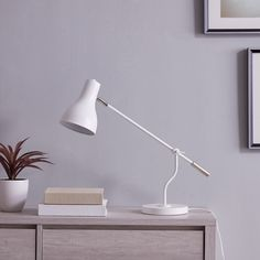 Shop for Carbon Loft Barrison Industrial White Metal Desk Lamp. Get free delivery On EVERYTHING* Overstock - Your Online Lamps & Lamp Shades Store! Diy Room Decor For Teens, Study Room Decor, Study Lamps, Metal Desks, Lamp Shade Store, Contemporary Table Lamps, Transitional Wall Sconces, Cool Floor Lamps, Aesthetic Bedroom