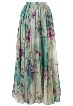Floral and Frill Maxi Skirt | Chicwish $79.46 AUD - Currently having a sale and 30% off orders over $50 + free shipping full stop.
