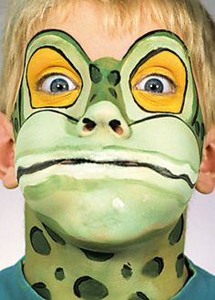 Instead of mask?? Not sure. Frog/Fish/Turtle Makeup Inspiration