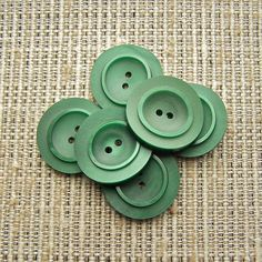 Mod Green Vintage Buttons 25mm 27mm  1 1/16 inch by brizelsupplies