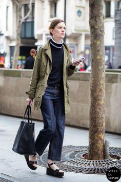 Jo Ellison Street Style Street Fashion Streetsnaps by STYLEDUMONDE Street Style Fashion Blog