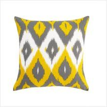 Love yellow and gray and ikat.