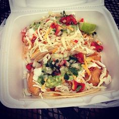 Order our #original #beerbattered #grouper #fishtacos the #guyfieri way: #hot & #loaded! #foodnetwork #tripleD #DDD