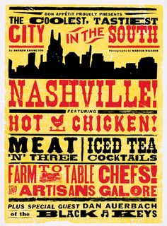 """Bon Appetit posts: """"The New York Times Gets On Board With Our Nashville Love"""""""