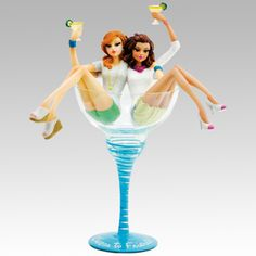I just found Unique Things to Brag About on AtopTheTable.com. Check them out and thank me later. Cheers to Friends Double Hiccup Friendship Girls in Glass by H2Z