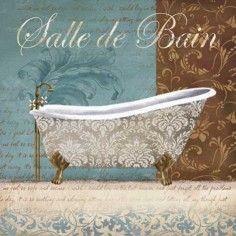 Tub 2 Printable modpodge or scrapbooking Victorian Bathtubs, French Crafts, Victorian Paintings, Decoupage Vintage, Bathroom Art, Bathrooms, Vintage Country, Vintage Labels, Diy Dollhouse