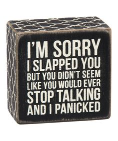 Look at this Wood 'I Panicked' Box Sign on #zulily today!